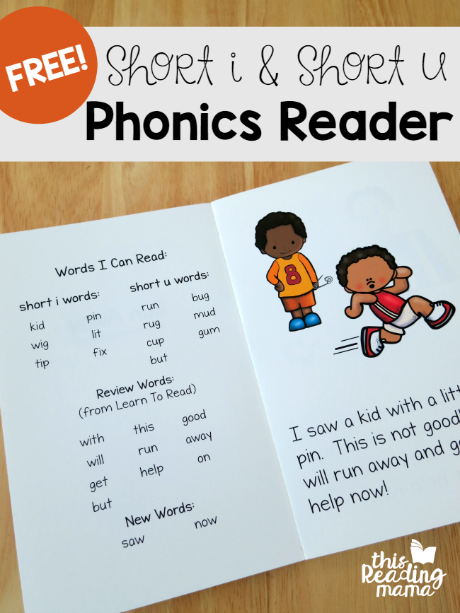 Learn To Read Short I & Short U Phonics Reader