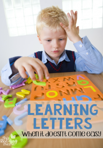 Learning Letters – When It Doesn't Come Easy