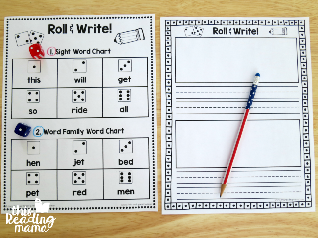 setting up Roll and Write from Learn to Read Unit 5