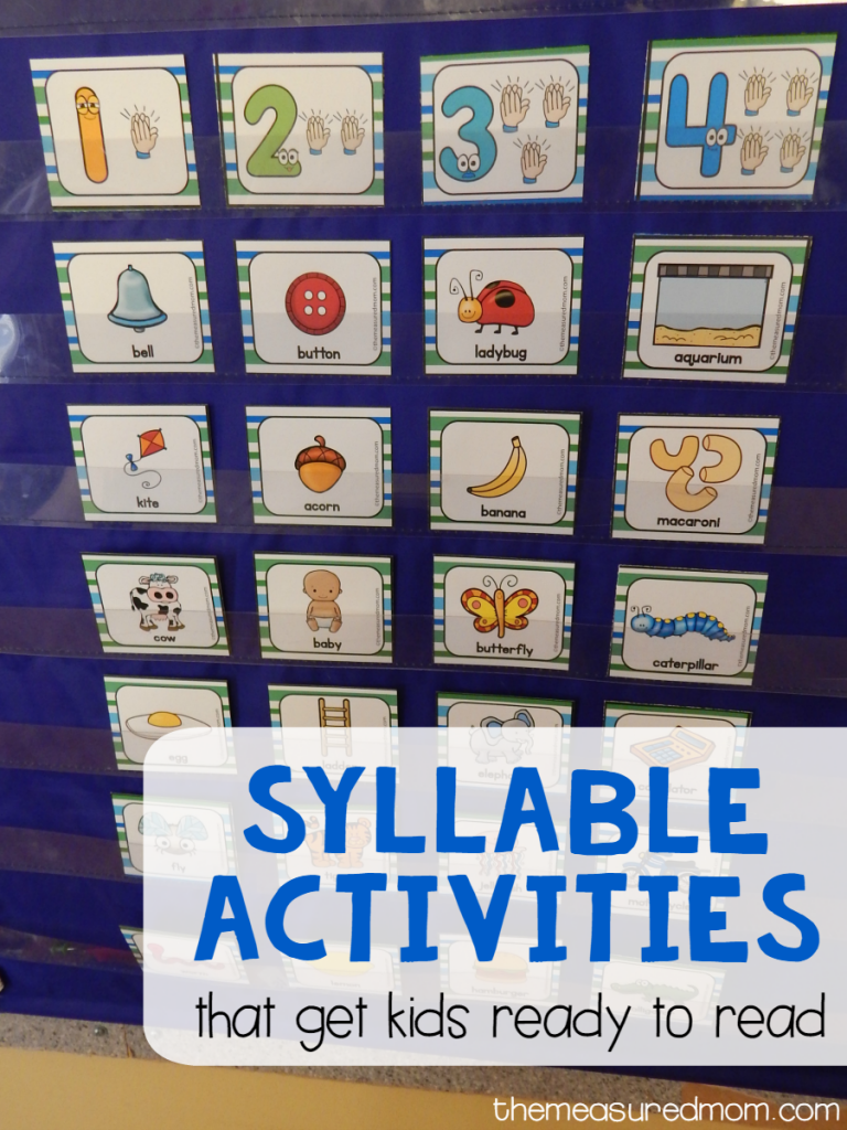 syllable activities that get kids ready to read