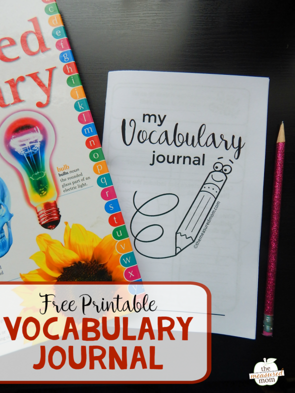FREE Vocabulary Journal & Printables - This Reading Mama