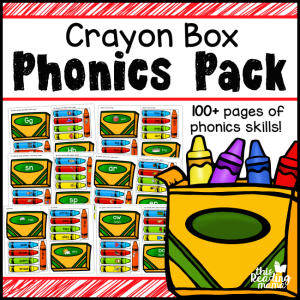 Crayon Box Phonics Pack - over 100 pages of phonics skills - This Reading Mama