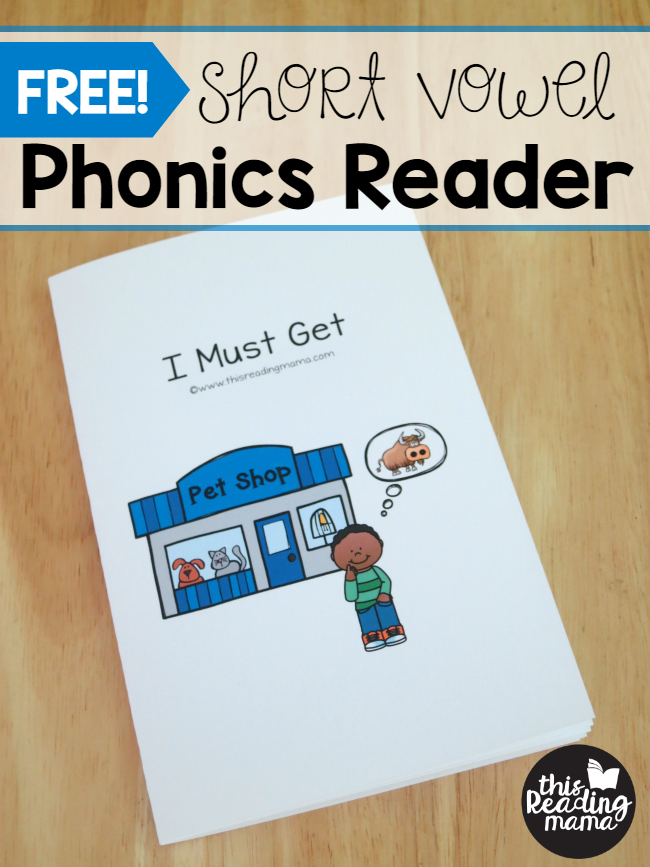 FREE Short Vowel Phonics Reader {from Learn To Read
