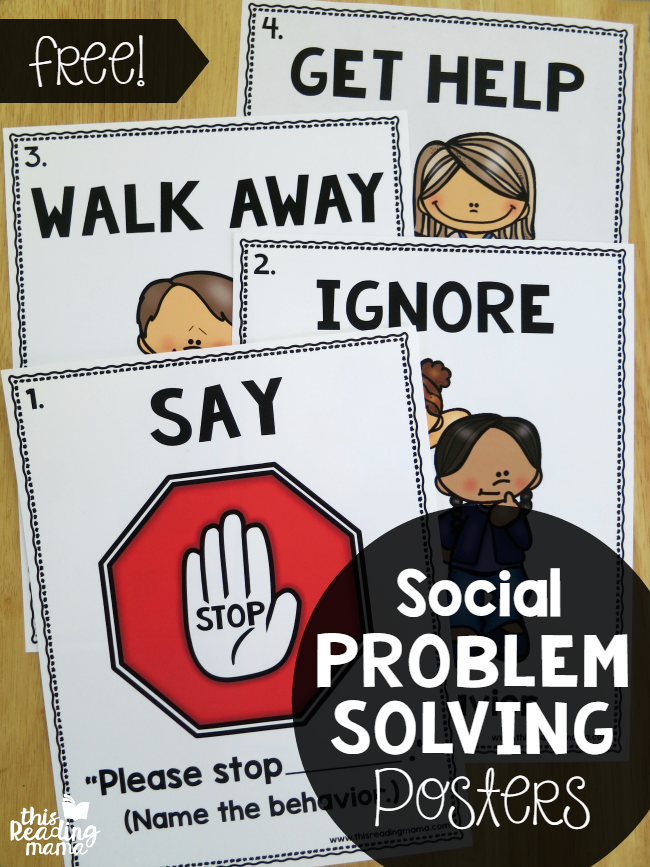 Social Problem Solving Posters {FREE}