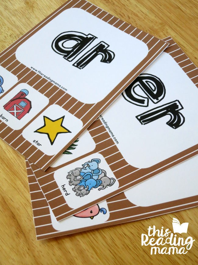 R-Controlled Phonics Cards