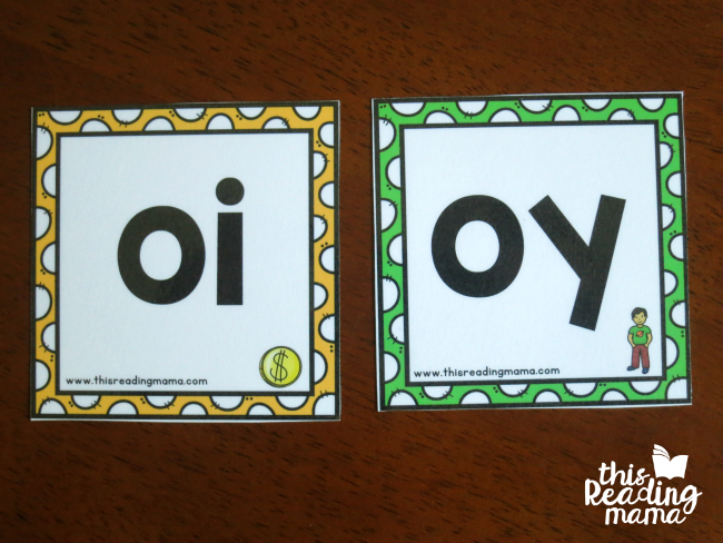 vowel chunk spelling examples - picture key on bottom
