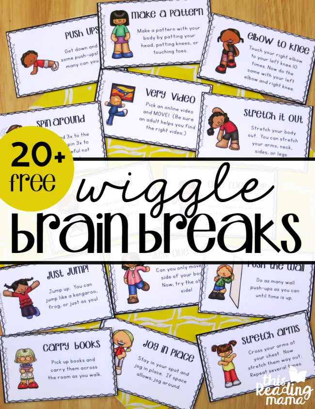20 Free Wiggle Brain Breaks - This Reading Mama