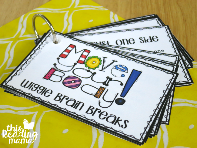 flip book of wiggle brain breaks