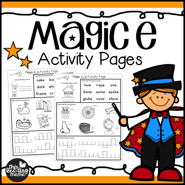 Magic e Activity Pages - This Reading Mama