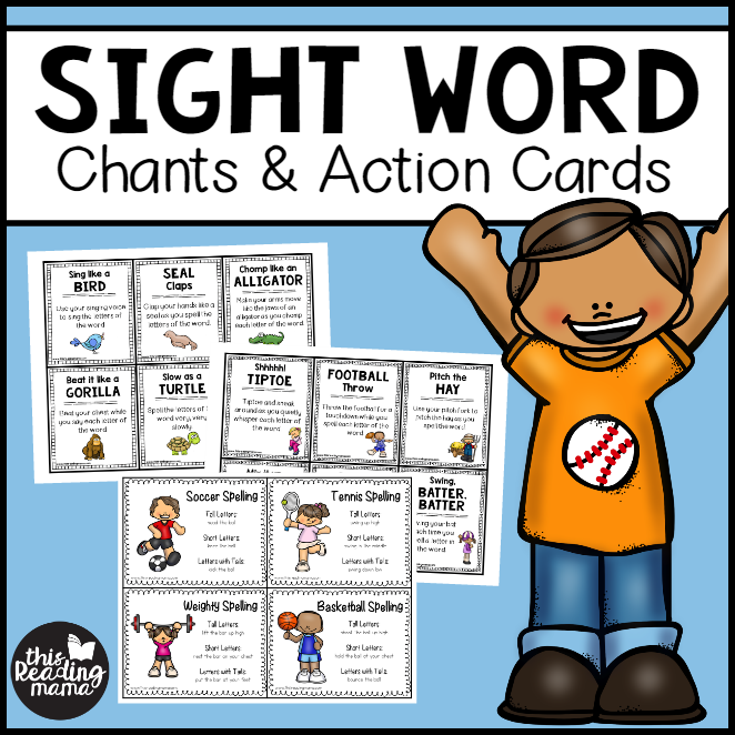 Sight Word Chants and Action Cards - This Reading Mama