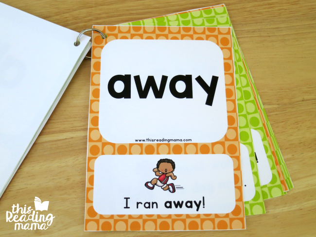 level 1 and level 2 sight word sentence cards combined