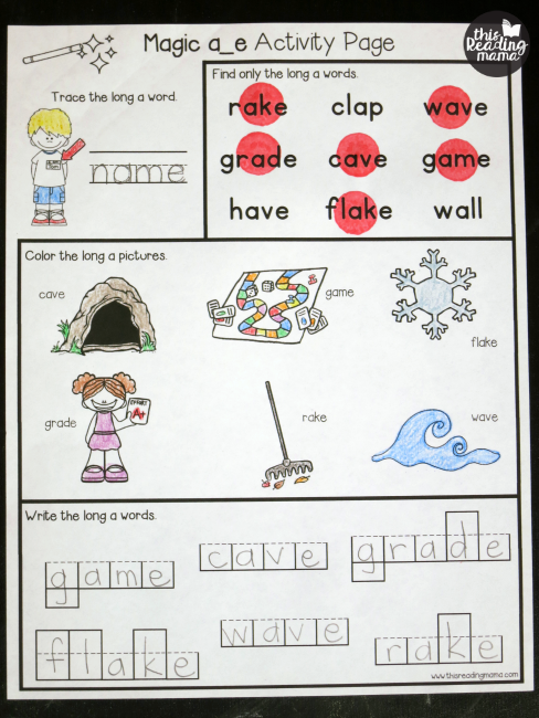 Free Magic E Activity Pages For Cvce Words This