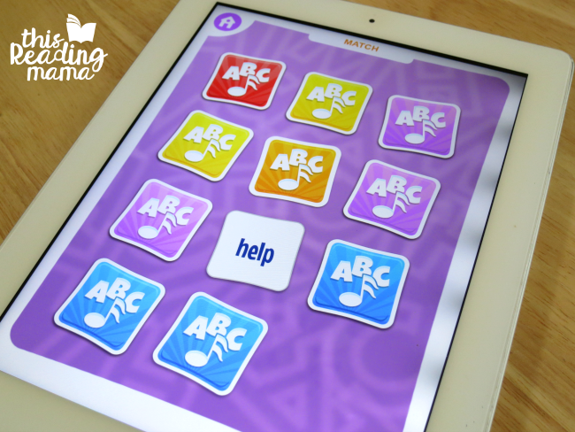 Sight Word Memory Match game on sight word games app