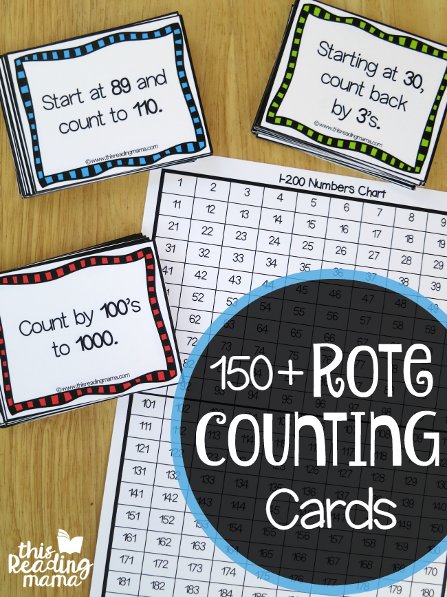 150 Free Rote Counting Cards - This Reading Mama