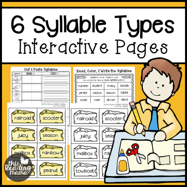 6 Syllable Types Interactive Pages - This Reading Mama