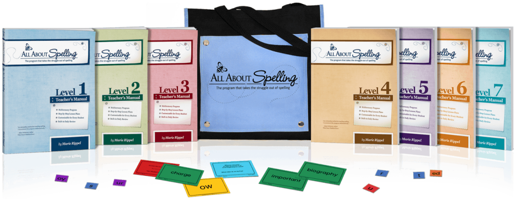 All about Spelling - best spelling curricula for struggling learners