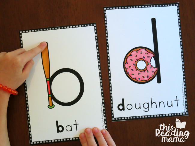 b and d letter reversal posters