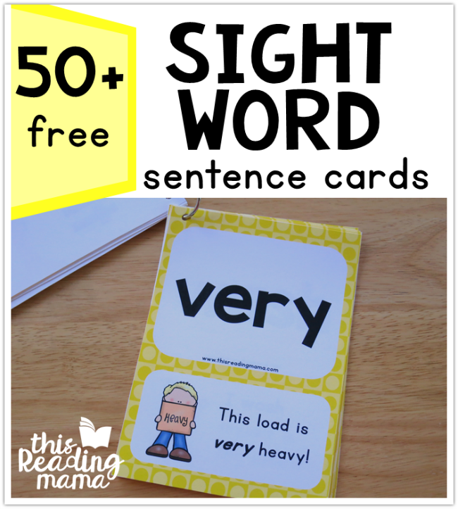 Second Grade Sight Word Sentence Cards {Level 4}
