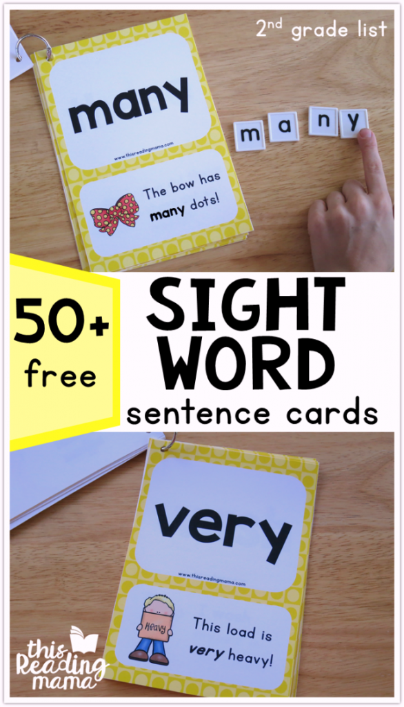 Second Grade Sight Word Sentences Level 4 - This Reading Mama
