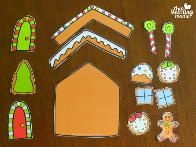 gingerbread house math game pieces for each player