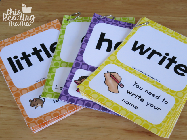 sight word sentence card flip books - level 1 through 4