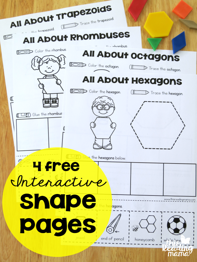 FREE Interactive Shape Pages