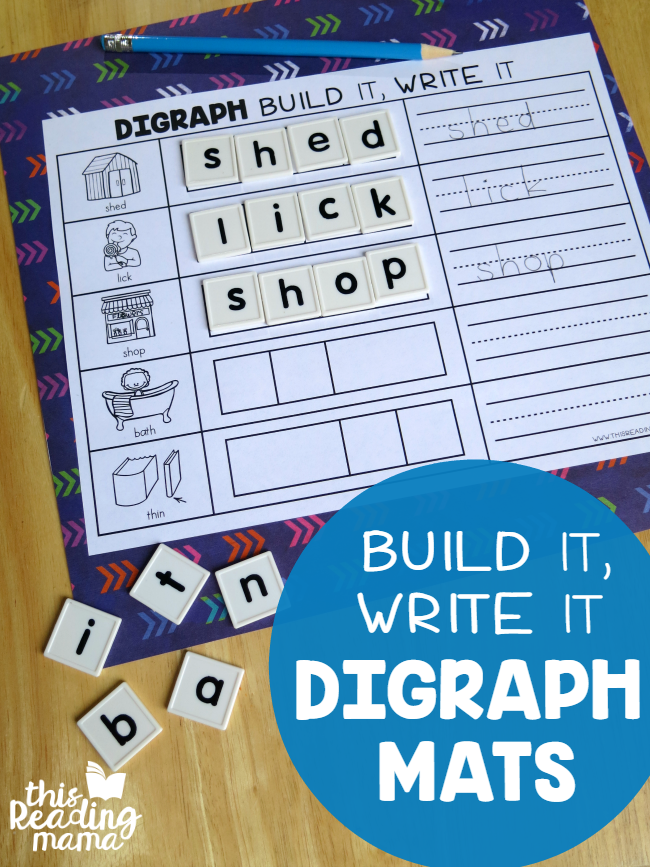 Build it Write it Digraph Spelling Mats - This Reading Mama