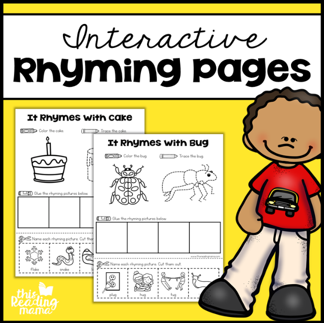 Interactive Rhyming Pages - This Reading Mama