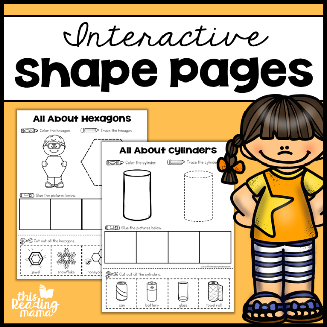 Interactive Shape Pages for 2D and 3D - This Reading Mama