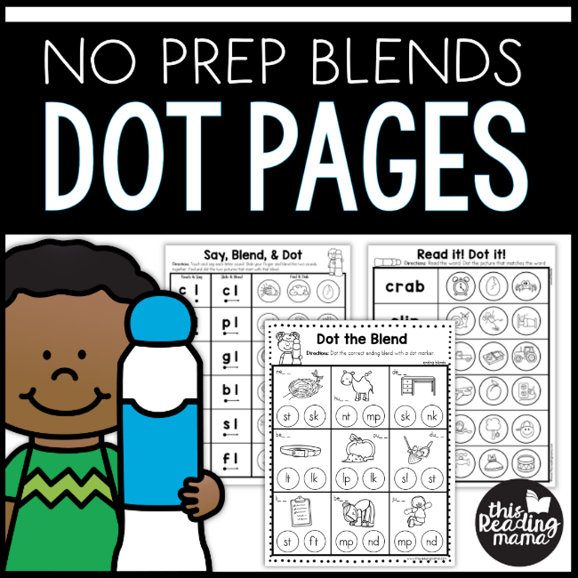 Blend Dab Beginning Blends Worksheets This Reading Mama