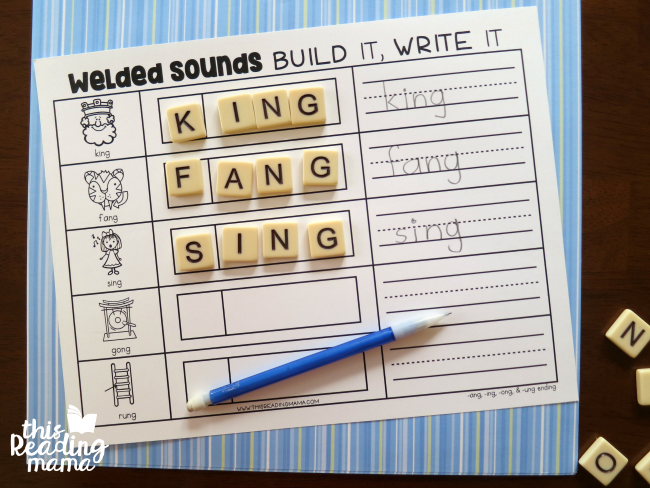 -ng welded sounds spelling mat