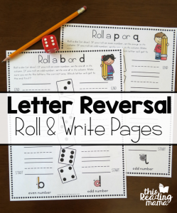 Letter Reversals Handwriting Pages