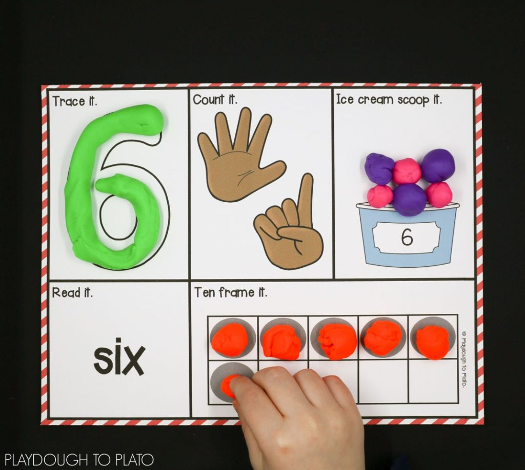 Number Playdough Mats from Playdough to Plato