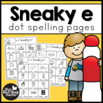 Sneaky e Dot Spelling Pages - This Reading Mama