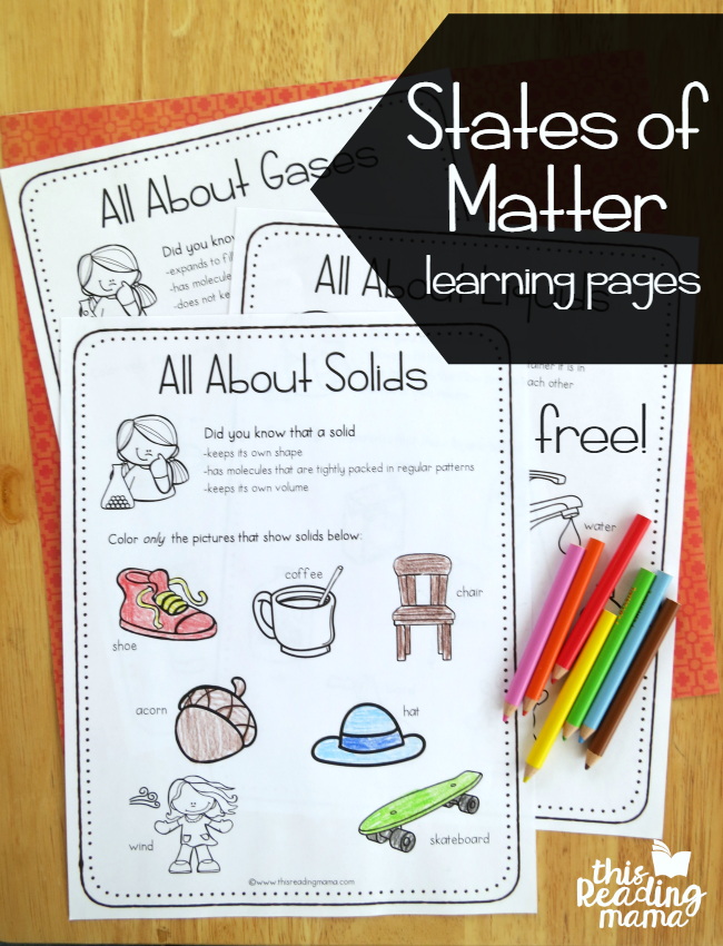 States of Matter Learning Pages {FREE!}