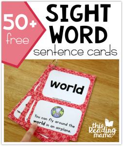 Third Grade Sight Word Sentence Cards