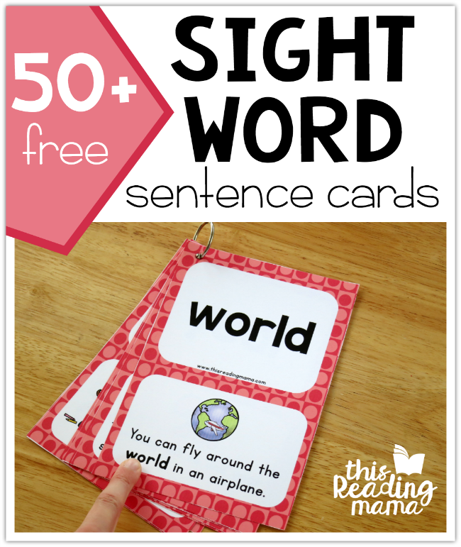 Third Grade Sight Word Sentence Cards -small - This Reading Mama