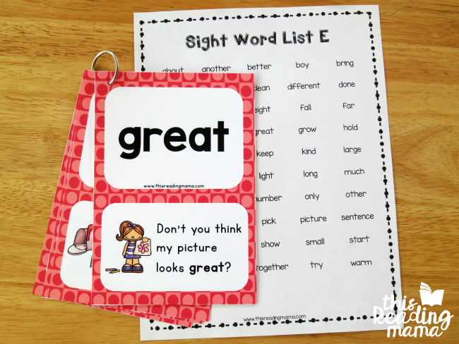 graphic regarding Printable Sight Word Cards identify 3rd Quality Sight Phrase Sentence Playing cards - This Looking at Mama