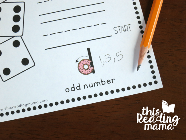 writing odd numbers at the bottom of letter reversals handwriting pages