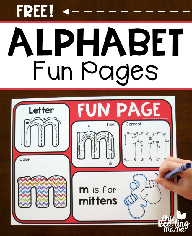 Alphabet Fun Pages {a Sneaky Way to Learn!}