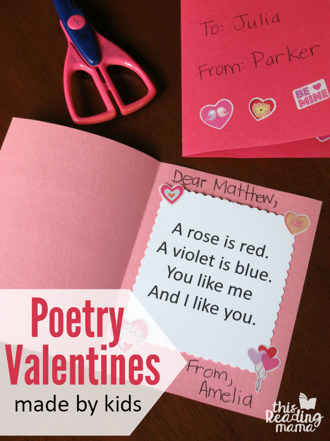 Kid-Made Poetry Valentines