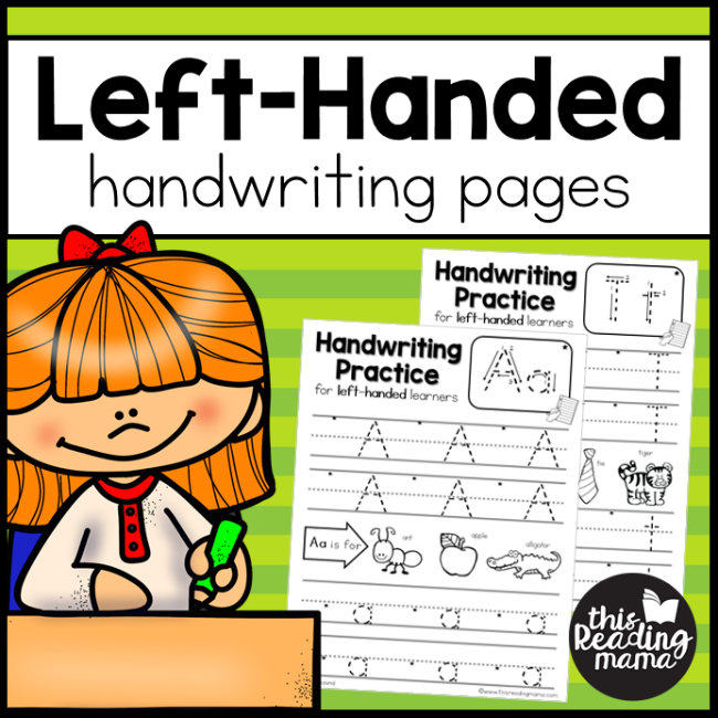 Left handed handwriting pages this reading mama