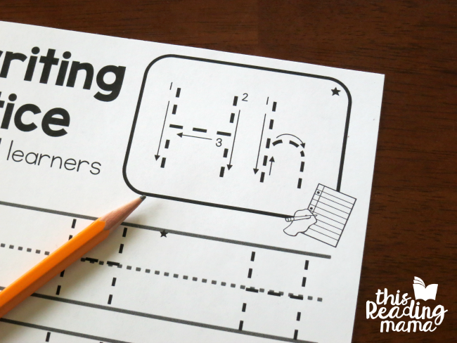 Left handed handwriting pages free this reading mama