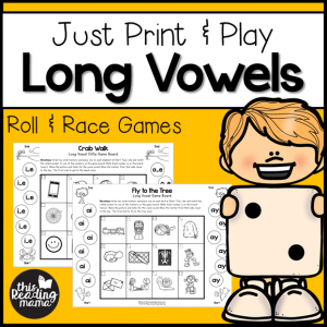 Print and Play Long Vowel Games - CVCe and Vowel Teams - This Reading Mama
