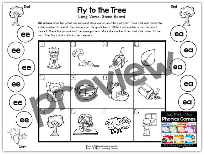 Print and Play Phonics Bundle PREVIEW