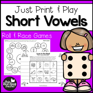 Print and Play Short Vowel Games - This Reading Mama