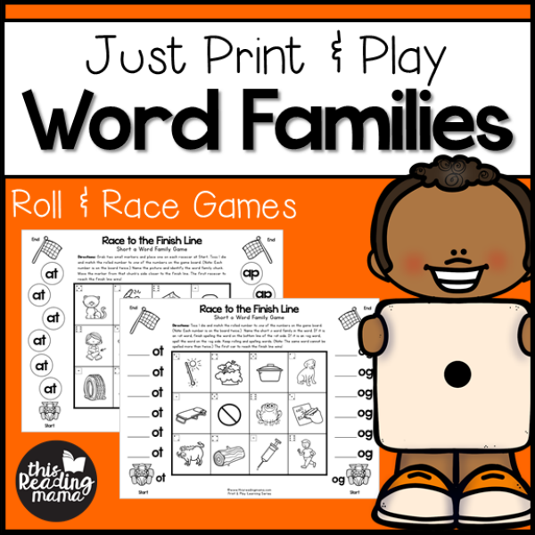 Print and Play Word Family Games - This Reading Mama