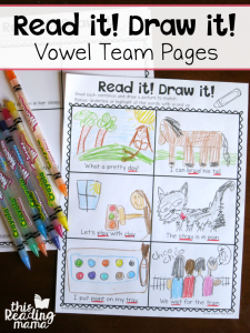 Vowel Team Read and Draw Pages