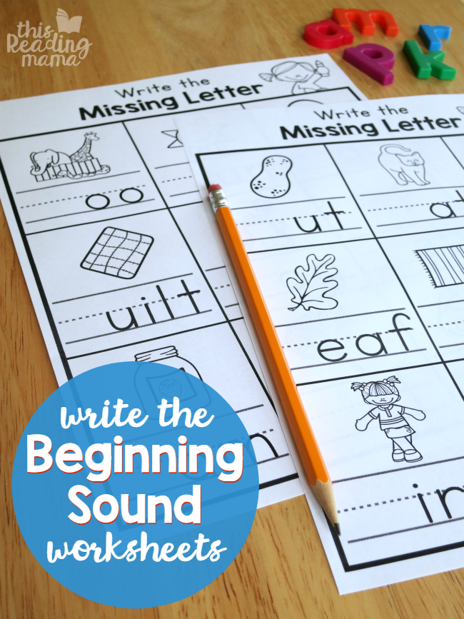 Write The Beginning Sound Worksheets - This Reading Mama