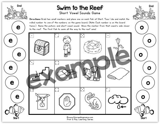 Short Vowel Game with longer short vowel words